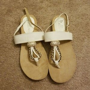 White Jewelled Sandals